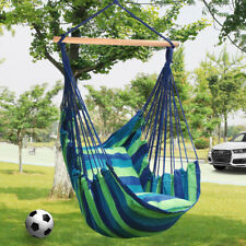 LIVINGbasic Swing Hanging Rope Hammock Chair Swing Seat + Storage Bag + 2-Pillow