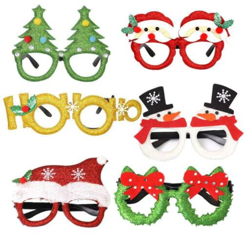 Novelty Christmas Sunglasses Xmas Fun Fancy Dress Festival Ornaments Glasses New