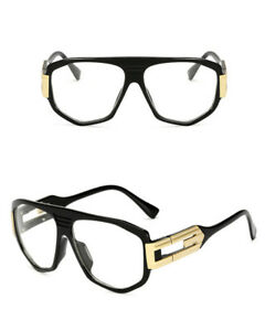 969ae10f695 Men s Women vintage retro Style Clear Lens eye glasses thick black ...
