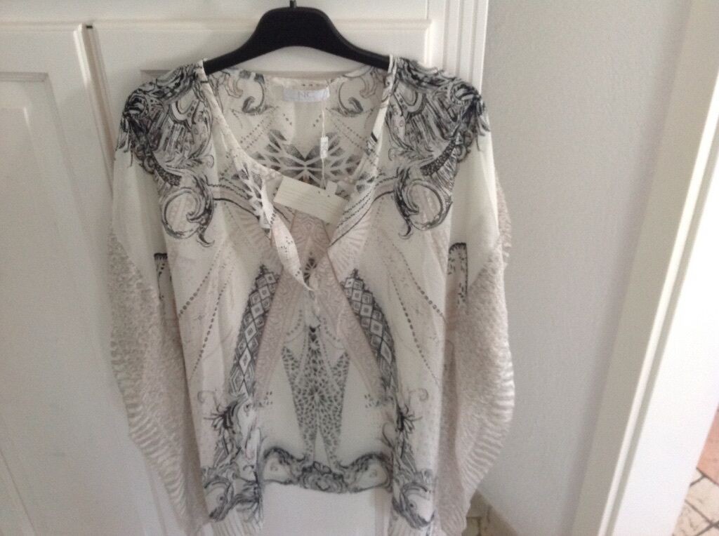❤️Luxus, Nice-Connection, Seiden Poncho, 100% Seide, Gr. 42, Neu mit Etikett❤️