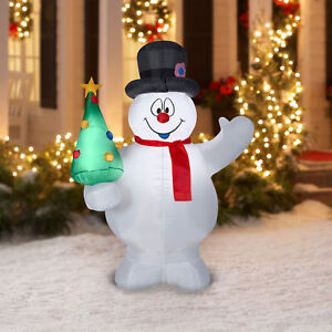 the latest 3eb08 ba3ea Details about Inflatable Snowman Frosty 5 Ft Blow Up Christmas Outdoor  Holiday Lawn Decoration