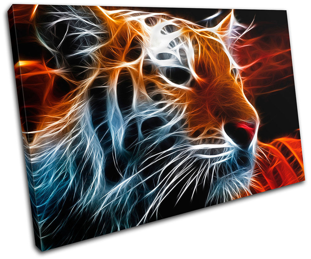 Tiger Animal Decorative Abstract Concept Canvas Art Picture Print Decorative Animal Wall Hanging 1ecb9f