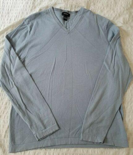 Alfani V-Neck Pullover Sweater Size Men/'s Large Cotton Blend Long Sleeves
