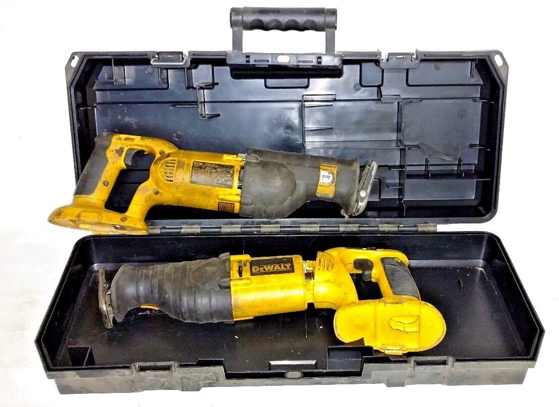 2 Dewalt DC385 tools (for parts) and DC385 SAW BOX Case