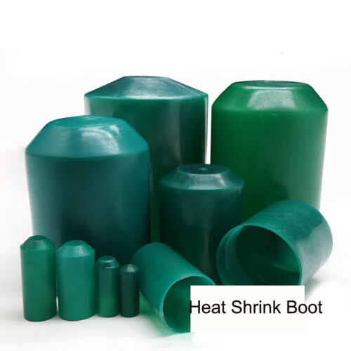 Green 2:1 Waterproof Heat Shrink Boot End Cable Cap Adhesive Glue Lined All Size