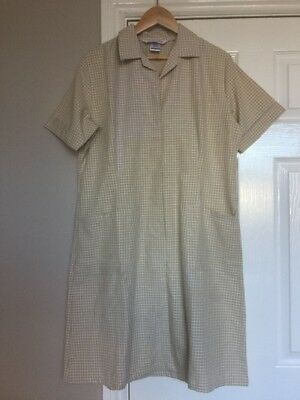 Alexandra AS12 Light Blue Workwear Dress Dinner Lady Cleaning Nurse Size 10