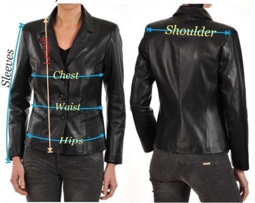 Slim Lambskin Kvinders Jacket Læder Coat Designer ægte Fit Blazer rqIwI5U
