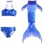 Indexbild 10 - Bademode Schwanz Badeanzug Meerjungfrau Bikini Mädchen Kinder Kostüm Schwimmen