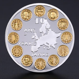 EU-12-Countries-Member-Silvery-Commemorative-Challenge-Coin-Physical-To-FE