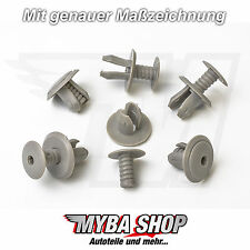 20x TÜRVERKLEIDUNG CLIPS KLIPS VW TRANSPORTER T4 & T5 HELLGRAU 70186729901C NEU