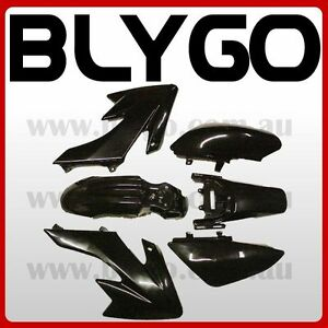 BLACK-Plastics-Guard-Fairing-Fender-Kit-CRF50-110c-125cc-PIT-PRO-Trail-Dirt-Bike