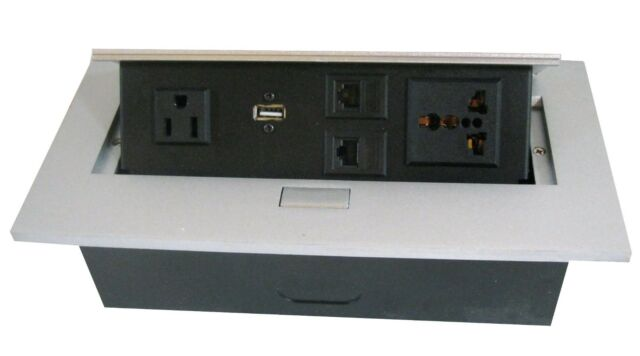 CABLE OUTLET / WIRE MANAGEMENT BOX for Office DESK/TABLE/Workstation