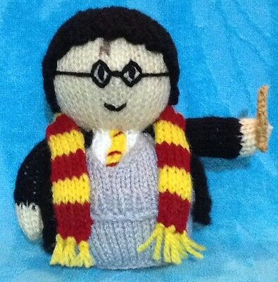KNITTING PATTERN Hermione inspired choc orange cover 15 cms Harry Potter toy