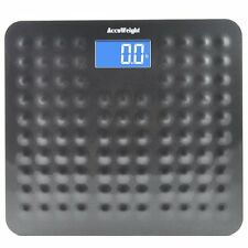 Accuweight 400lb LCD Digital Bathroom Body Weight Scale With Backlight Display