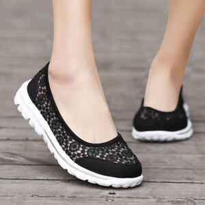 Women-039-s-Casual-Non-Slip-Walking-Shoes-Breathable-Flats-Slip-on-Extra-Depth-Shoe