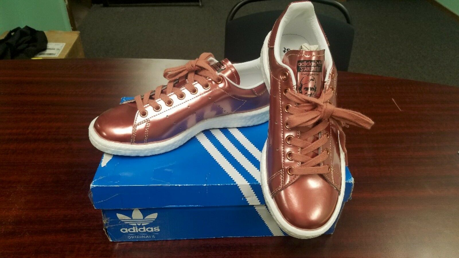 5f8c0e7417 NEW Adidas Stan Boost shoes Size 8 Bronze Copper Metallic Leather Smith  Women's nttmlr816-Athletic Shoes