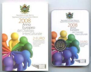 2 Euro San Marino 2008 European Year Of Intercultural Dialogue Official Folder PréVenir Et GuéRir Les Maladies