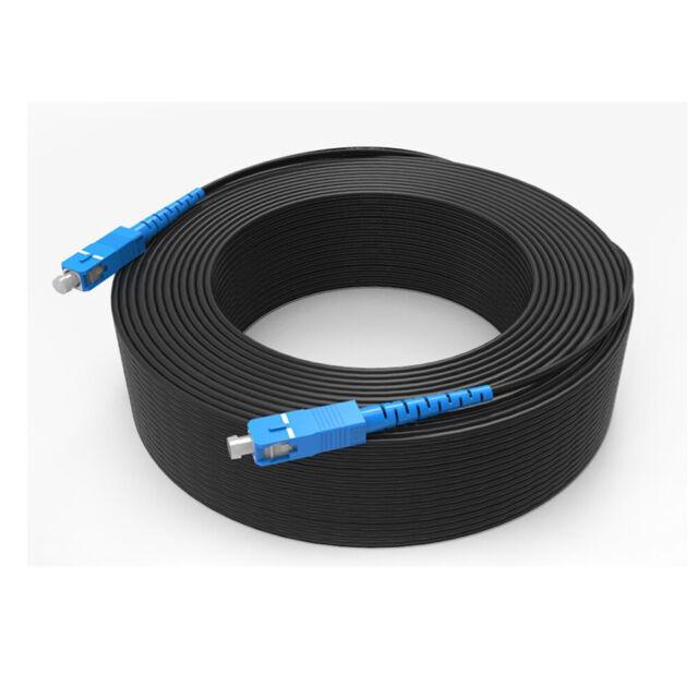 FiberTool Simplex SM LC to ST Patch Cable Fiber Optic Jumper 3 Meter