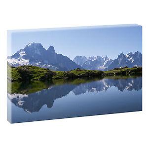 Bild Berge Natur Keilrahmen Leinwand  Poster XXL 120 cm*80 cm 523 sw Bergsee
