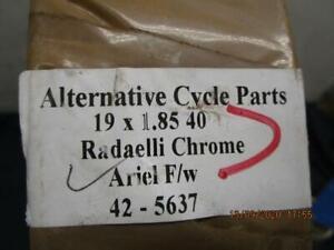 Ariel-Front-amp-Rear-Wheel-Rim-19-034-FW-Alloy-Hub-Chrome-Radelli-42-5637-D62
