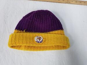 9cf4040d Minnesota Vikings Vintage NFL Football Knit Pom Cuff Stocking Cap ...