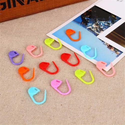 100 pcs//pack Knitting Craft Crochet Locking Stitch Needle Clip Markers Holder Wv