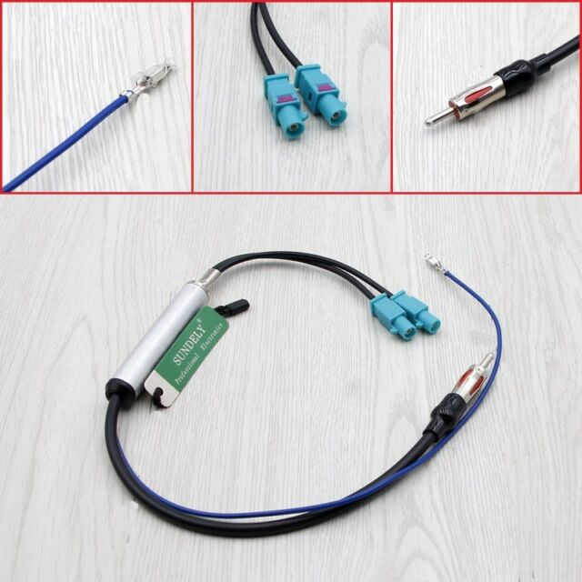 2 Diversity Twin Double Dual Fakra Din Aerial Antenna Adaptor Lead For Audi VW