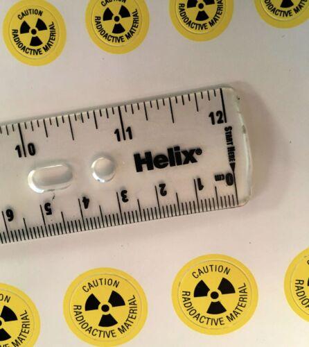 Attenzione materiale RADIOATTIVO adesivi di avvertimento 10 FOGLI 2 Taglie 640 ETICHETTE 20mm