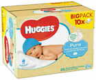 Huggies 659571 56 Pure Soft Gentle Baby Wipes - 10 Pieces - 560 Wipes