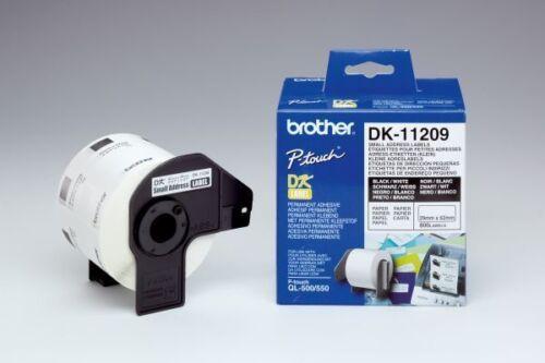Beschriftungsband Brother P-touch DK 11209 neu für QL-570 560 550 500 DK-11209