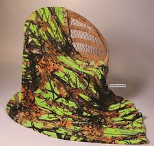 "LIME CAMO Camouflage Woods Luxury Twin Soft Fleece Cashmere Blanket 60"" x 80"""
