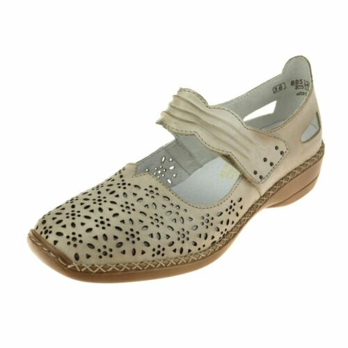Rieker 413G760 Donna VANILLA scarpa taglia EU Donna Hook Loop Pelle Imbottito