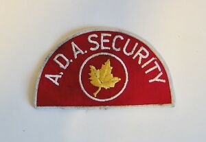 Details about Vintage NOS Embroidered Patch A D A  Security Maple Leaf  Guard Iron Sew On