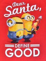 Minion Christmas T-shirt Dear Santa, Define Good Minions Holiday Adult Tee