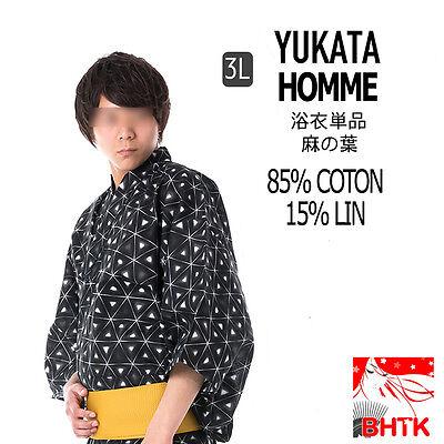 Consegna Veloce 浴衣 Yukata Giapponese Tradizionale - Yukata Da Uomo In Nero (3l) #1511