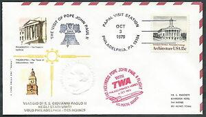 1979 Vaticano Viaggi Del Papa Dispaccio Aereo Philadenlphia Des Moines - Rm1