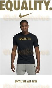 404d2c2a3 RARE MEN NIKE MLK DAY EQUALITY BLACK METALLIC GOLD DRIFIT SHIRT ...