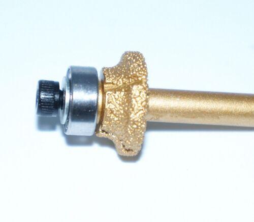 "6.35mm Select R3 R5 Diamond Profile Wheel Router bit Bullnose Shank Dia 1//4/"""