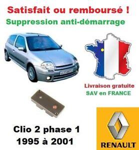 Détails sur Boitier antidémarrage Supprime l'anti-demarrage des Renault  Clio 2 phase 1