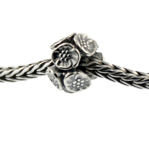 Authentic Trollbeads Sterling Silver 11449 Cherry Blossoms
