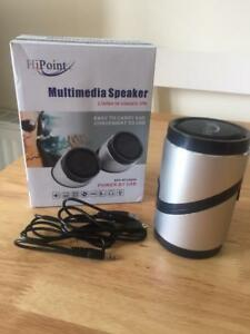 HiPoint USB Powered Stereo Travel Speakers  BRAND NEW RETAIL BOXED  UNUSED - Hounslow, United Kingdom - HiPoint USB Powered Stereo Travel Speakers  BRAND NEW RETAIL BOXED  UNUSED - Hounslow, United Kingdom