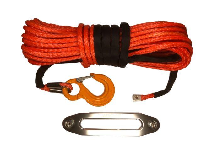 100 ft 8mm Synthetisch Seilwinde Seil Dyneema SK75 Anzug Self Erholung 4x4