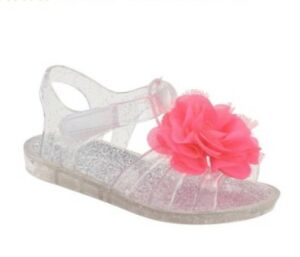 NEW Infant Girls Clear Sparkle Jelly