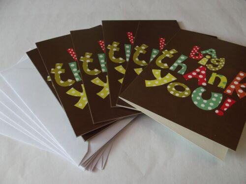 Lot de 6 merci cartes.. 6 cartes /& enveloppes.. par carte ovation