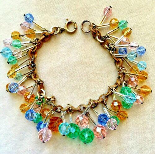 Superb 192030s Rhodium plated charm bracelet.