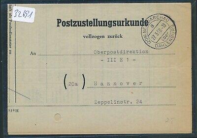 20a Post-zu 1958 Aromatischer Geschmack Neudarchau über Dahlenburg 32691 Landpost K2