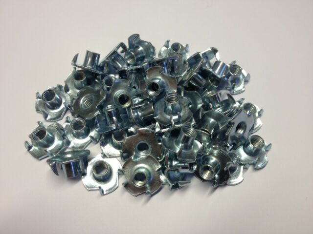 T NUTS M5 X 9MM 4 PRONG BLIND CAPTIVE ZINC PLATED STEEL (50 QTY)