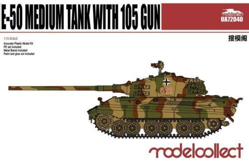 ModelCollect UA72040 1//72 E-50 Medium Tank with 105mm Gun