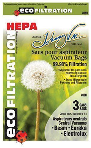 Generic Central Vacuum Bags HEPA BEAM EUREKA ELECTROLUX KENMORE 3 PK