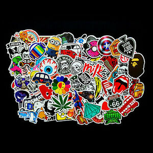 Lot-100Pcs-Sticker-Bomb-Decal-Vinyl-Roll-for-Car-Skate-Skateboard-Laptop-Luggage
